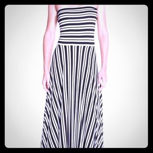 Felicity and Coco B&W Nordstrom Striped Maxi Dress